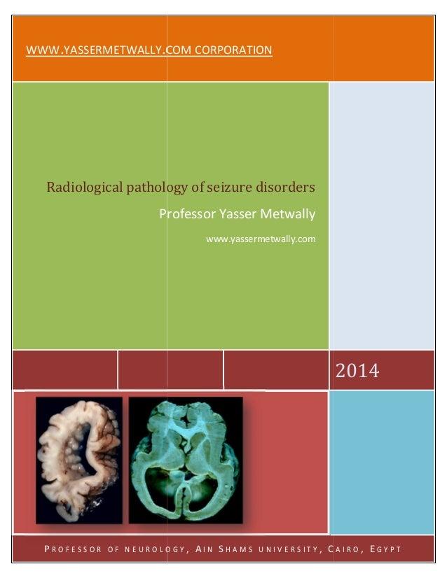 Radiological pathology of epileptic disorders