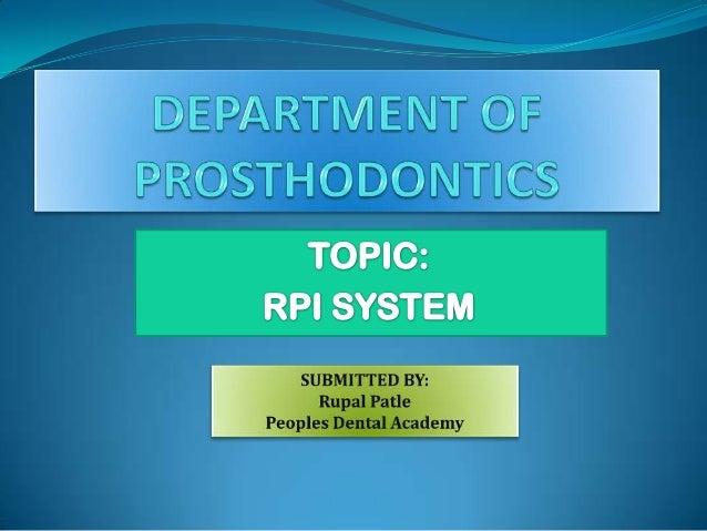 RPI system