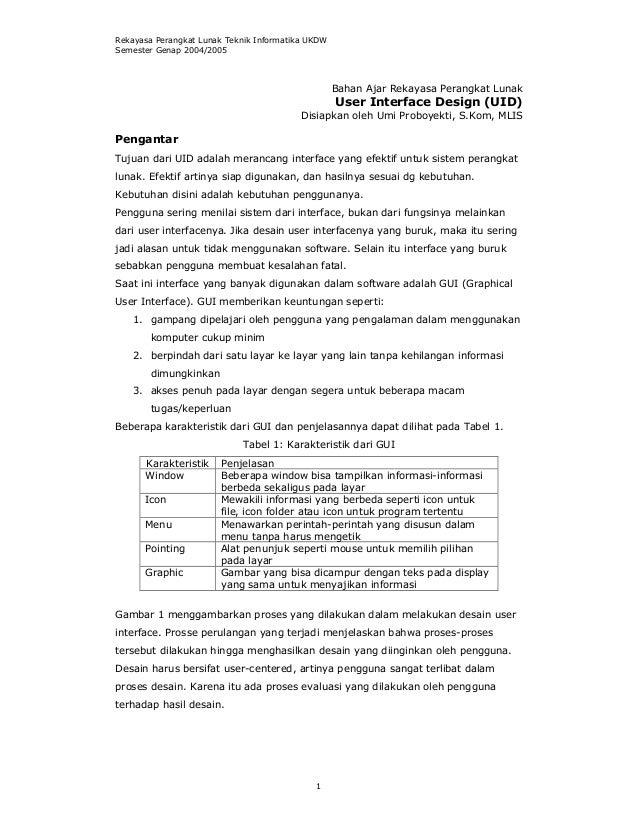 Rekayasa Perangkat Lunak Teknik Informatika UKDWSemester Genap 2004/2005                                                  ...