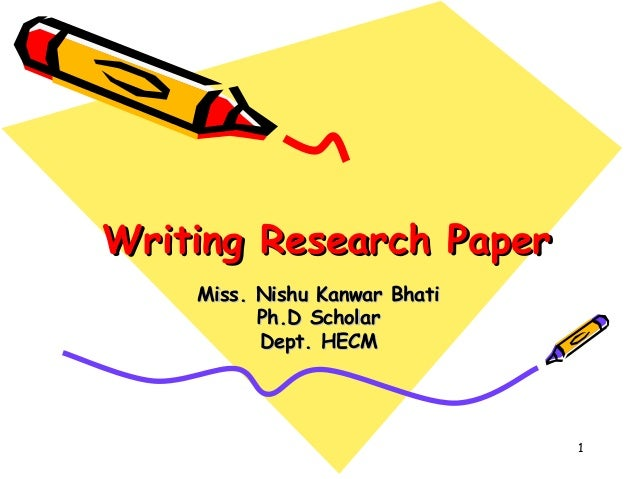 writing your first research paper