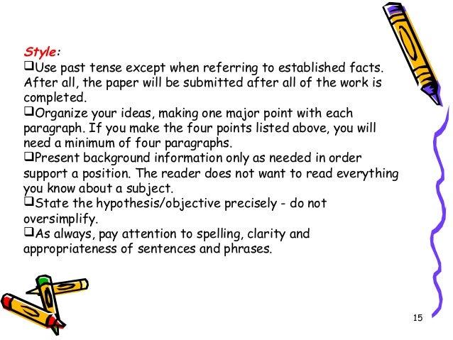 Research paper tense