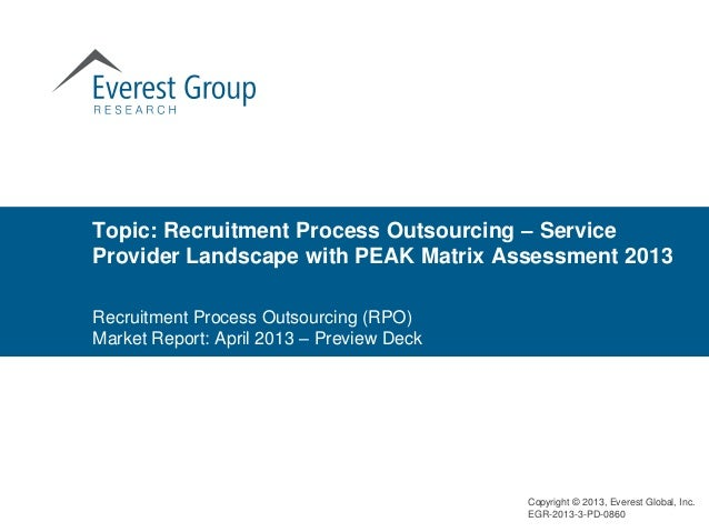 Topic: Recruitment Process Outsourcing – ServiceProvider Landscape with PEAK Matrix Assessment 2013Recruitment Process Out...