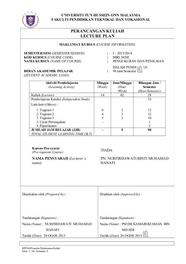 Contoh RPP 04 BBD30202 Beserta Comment