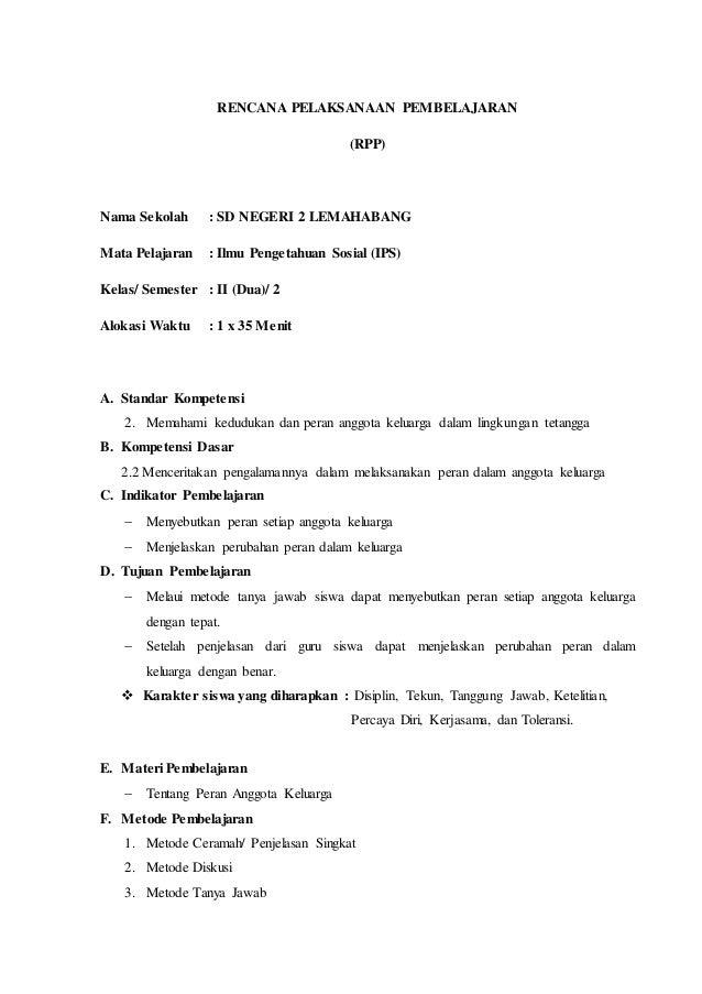 Rpp Ips Kelas 2