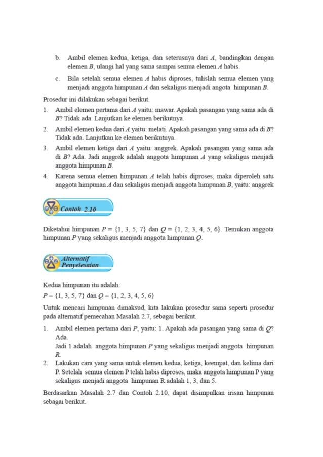 Operasi Himpunan Matematika Operasi Himpunan Irisan