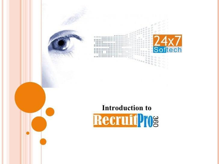 RecruitPro 360 - Recruitment Software