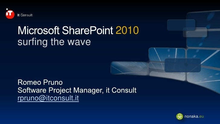 2010 surfing the wave     rpruno@itconsult.it                               nonaka.eu