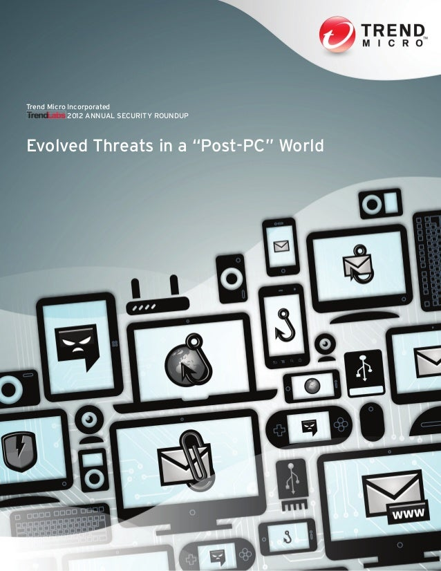 """TrendLabs 2012 Annual Security Roundup: Evolved Threats in a """"Post-PC"""" World"""