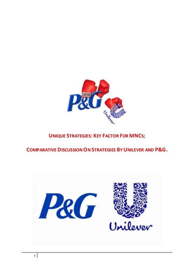 Comparison - Unilever Vs P&G- International Business and Marketing Stategies