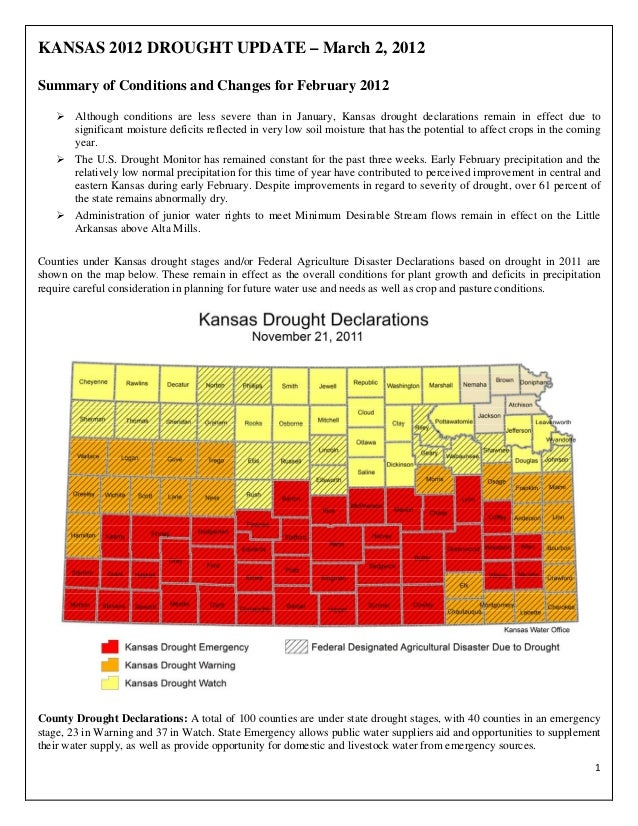Kansas 2012 Drought Update - Kansas Water Office