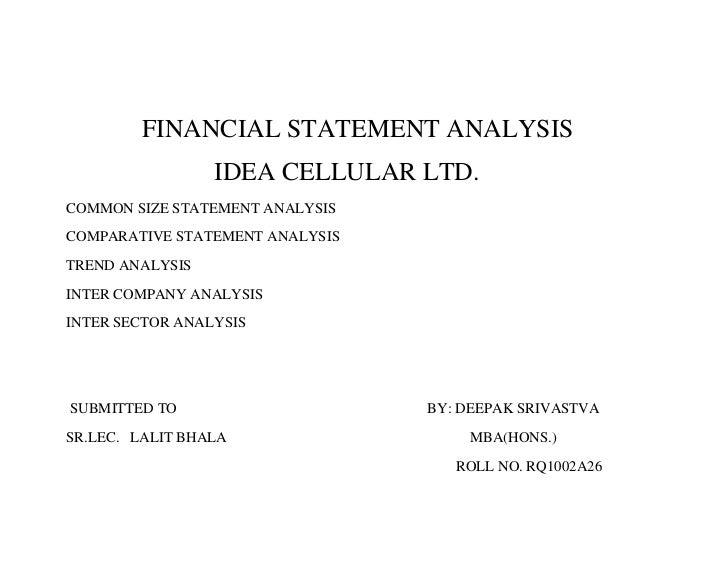 financial statement analysis of Idea Cellular
