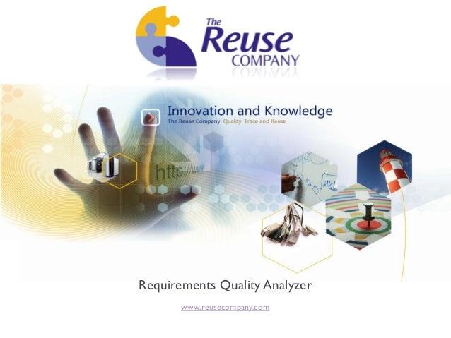 Requirements Quality Analyzer       www.reusecompany.com