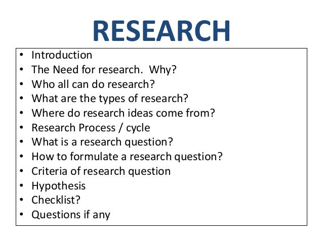 Topic questions research papers