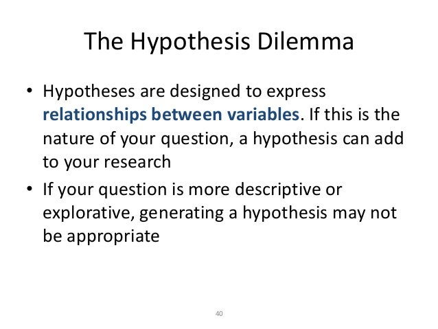 Hypothesis research question