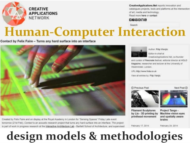 HCI 2014 (3 of 10): Design Models and Methodologies