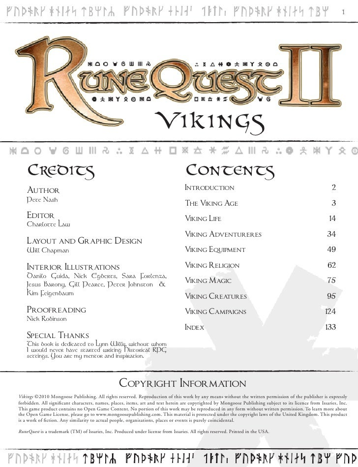 Vikings RuneQuest II