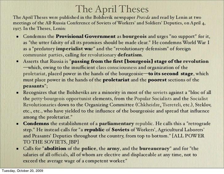 april theses lenin summary