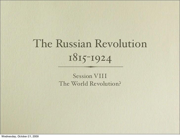 World Revolution? 1918-1924