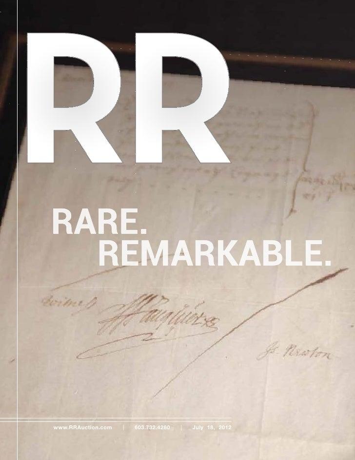 RR Autograph Auctions july 2012