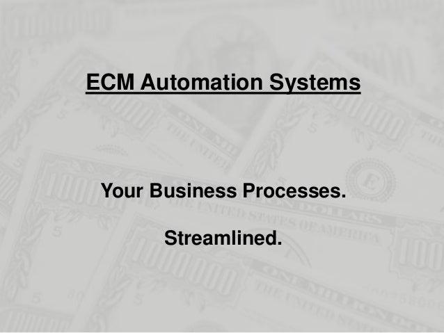 ECM Renovation Roadshow - Automation Systems