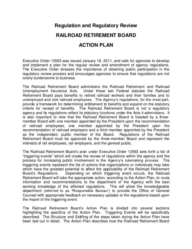 Railroad Retirement Board Preliminary Regulatory Reform' Plan
