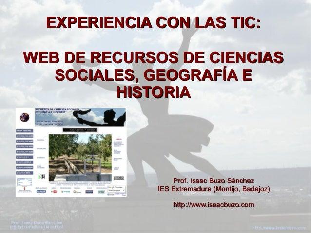 La web de Recursos de Ciencias Sociales, Geografía e Historia