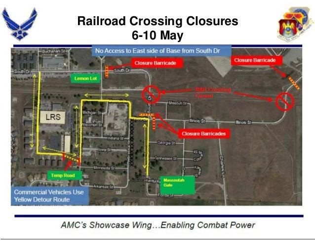Railroad Crossing Closures6-10 May
