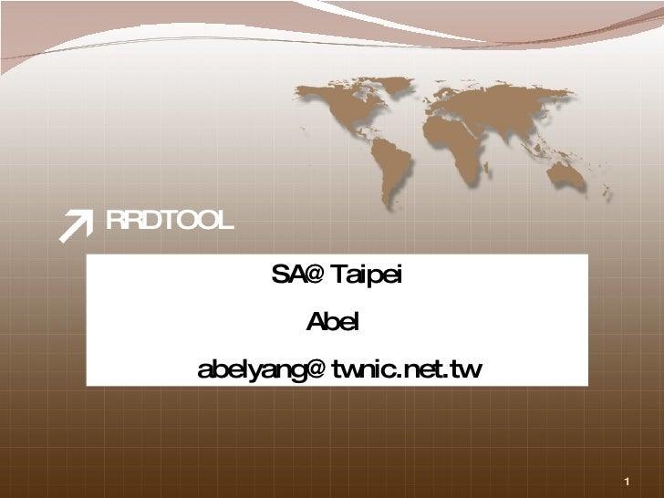 RRDTOOL [email_address] Abel  [email_address]
