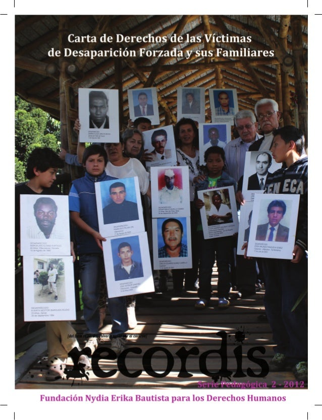 Ediciones Recordis                Fundación Nydia Erika Bautista para los Derechos Humanos - 2012                         ...