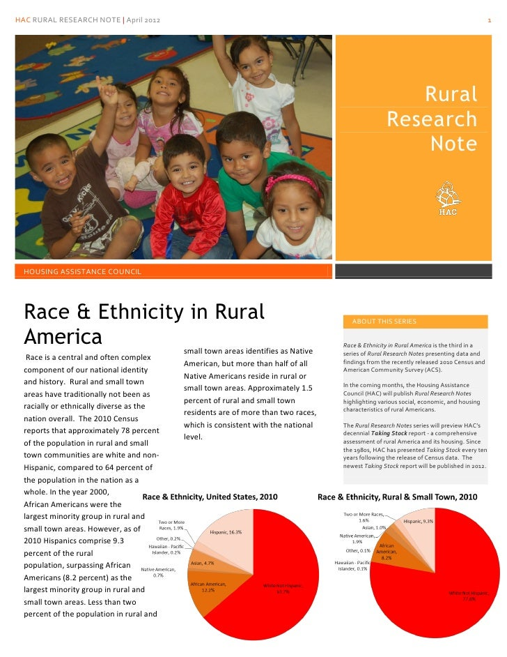 Race and Ethnicity in Rural America