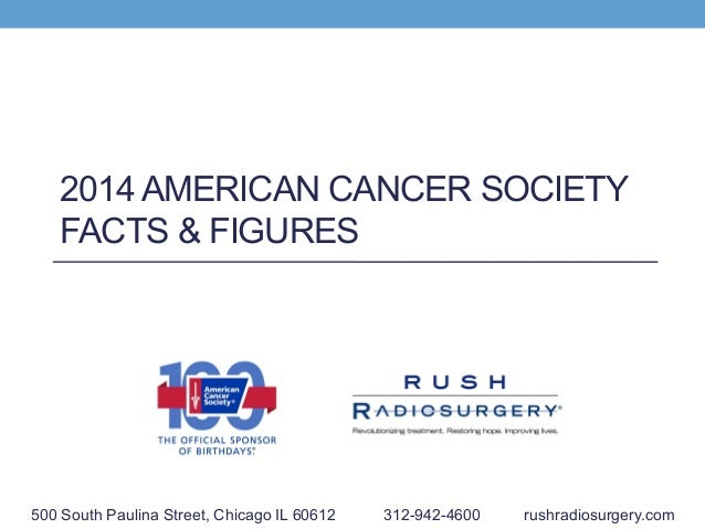 2014 AMERICAN CANCER SOCIETY FACTS & FIGURES 500 South Paulina Street, Chicago IL 60612 312-942-4600 rushradiosurgery.com