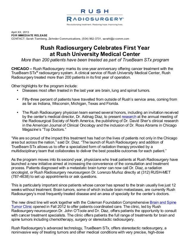 April XX, 2013 FOR IMMEDIATE RELEASE CONTACT: Sarah Tiambeng, Zehnder Communications, (504) 962-3731, saraht@z-comm.com ...