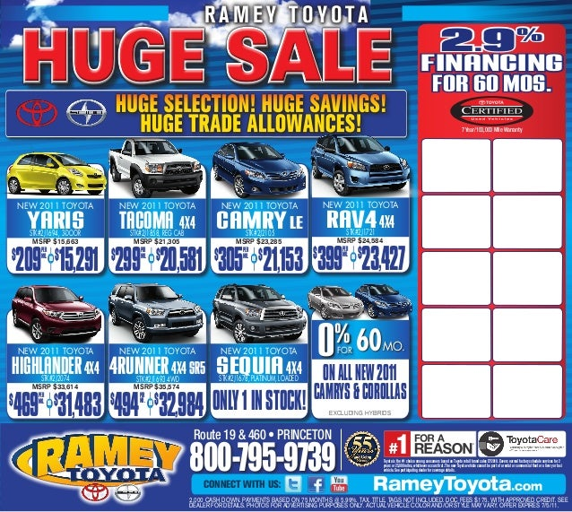 Huge sale ramey toyota princeton wv for Ramey motors princeton wv