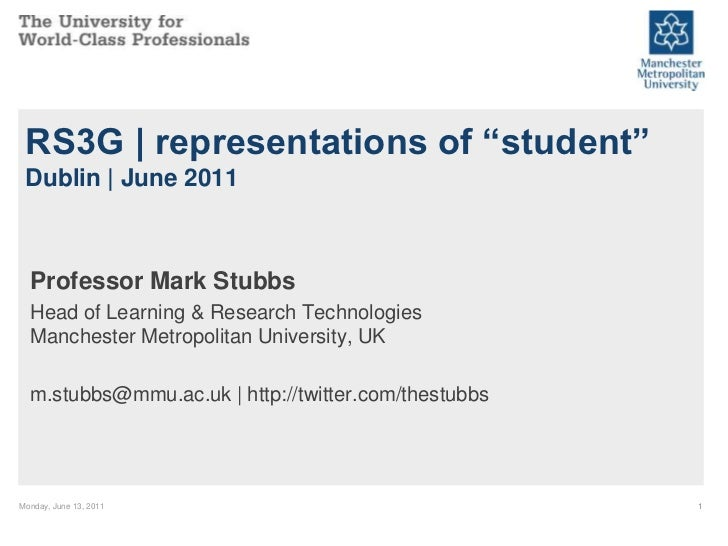 "RS3G | representations of ""student"" Dublin 