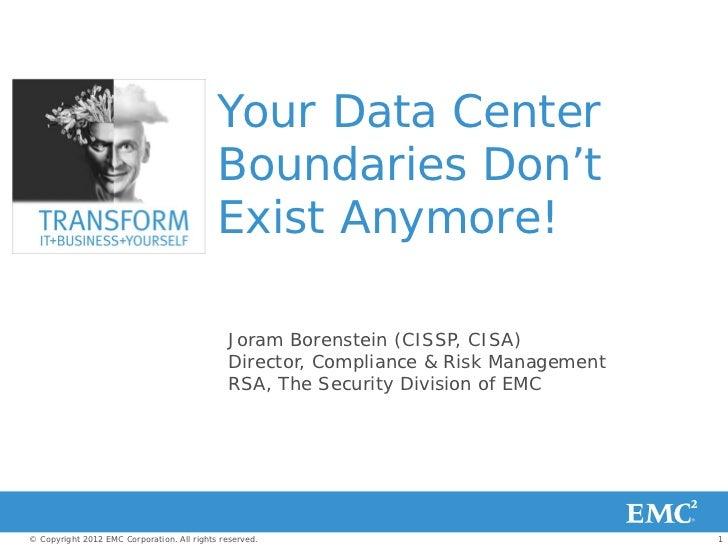Your Data Center                                            Boundaries Don't                                            Ex...