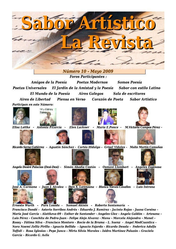 RSA10 - Sabor Artístico - La Revista - Nª 10 - Mayo 2009