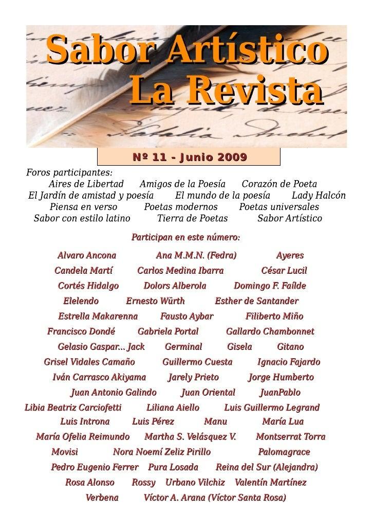 Rsa11 - Revista Sabor Artístico nº 11 - Junio 2009