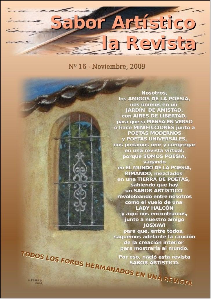 RSA16-Sabor Artistico-noviembre, 2009