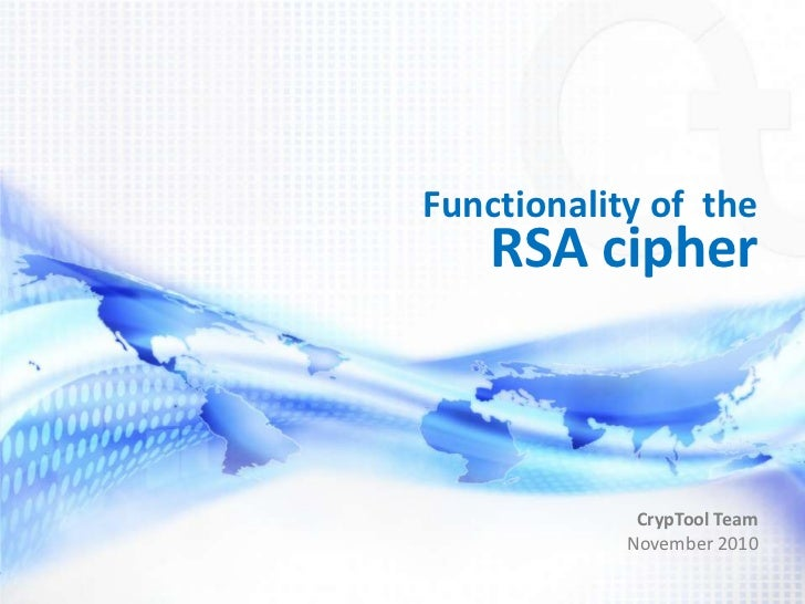 Functionality of the RSA Cipher
