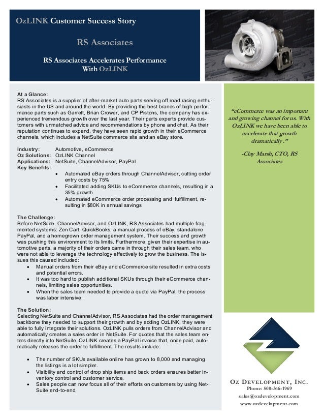 RS Associates Accelerates Performance