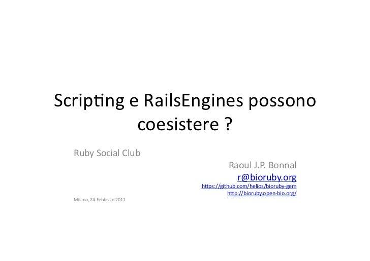 BioRuby e gli Engines di Rails -ITA-