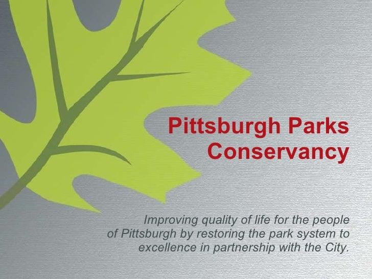Parks Conservancy Treehouse Presentation