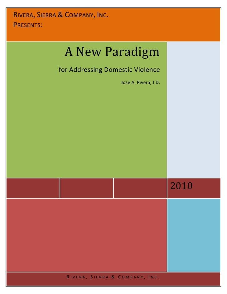 RSC Domestic Violence Paradigm
