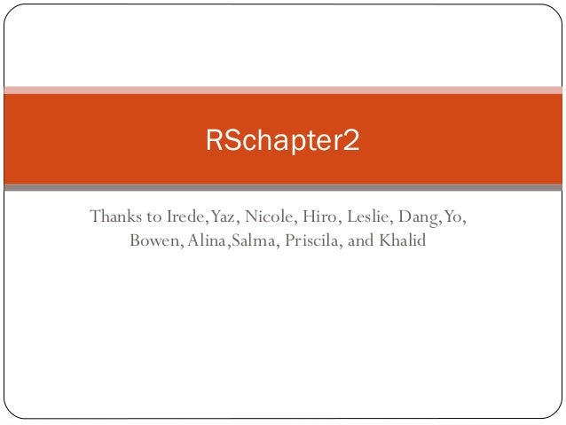 R schapter2