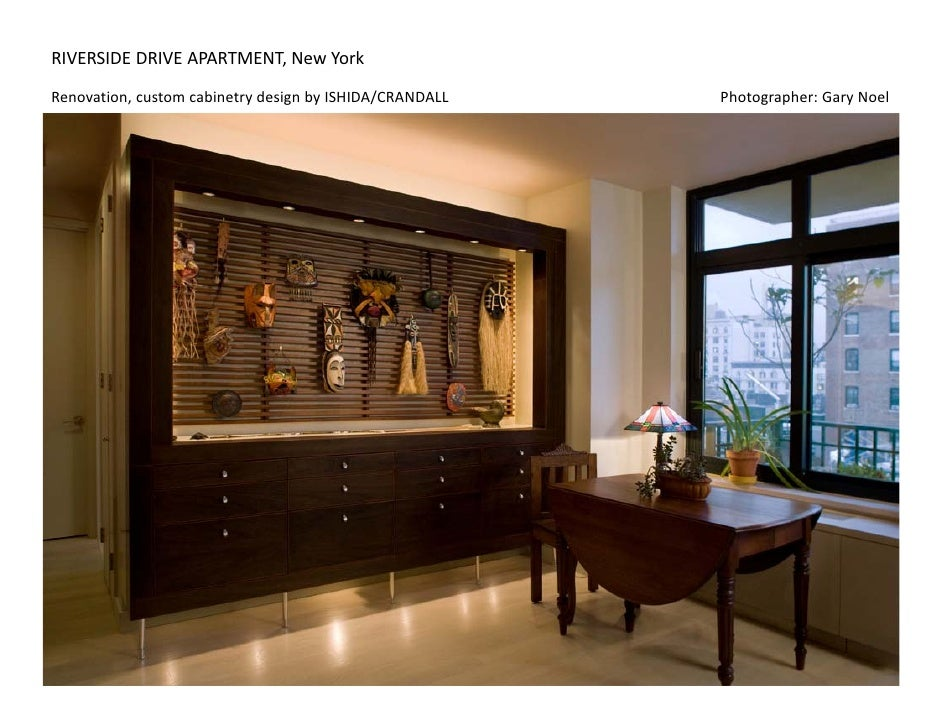 RIVERSIDEDRIVEAPARTMENT,NewYork Renovation,customcabinetrydesignbyISHIDA/CRANDALL...