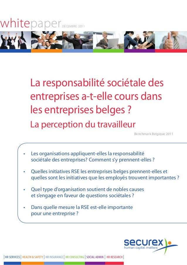 whitepaper          Décembre 2011      La responsabilité sociétale des      entreprises a-t-elle cours dans      les entre...