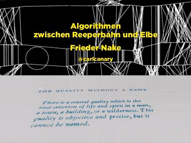 Hamburg, 21.2.2016 raumschiffer.de @raumschifferde facebook.com/raumschifferde Algorithmen zwischen Reeperbahn und Elbe F...