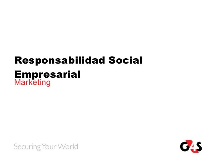 Responsabilidad Social Empresarial Marketing