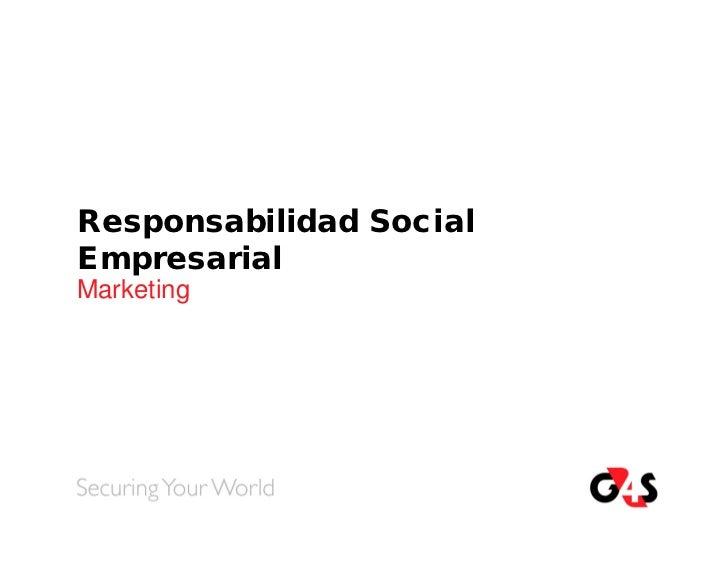 Responsabilidad SocialEmpresarialMarketing