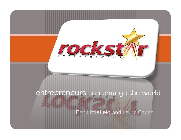 entrepreneurs can change the world            Ben Littlefield and Laura Capes